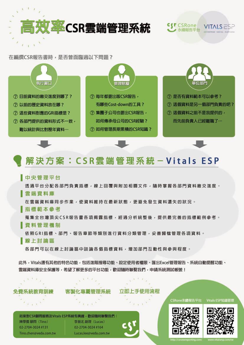 【系統工具】CSR報告資料蒐集最佳利器-Vitals ESP